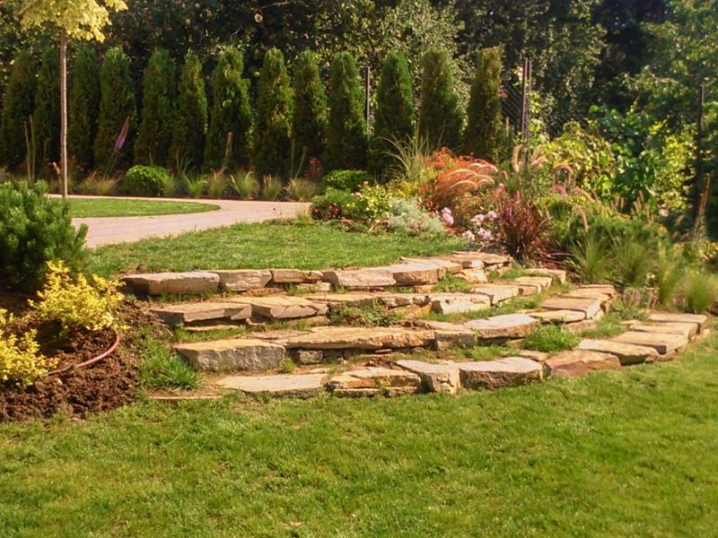 озеленяване - твърда градина